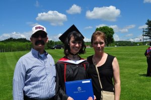 My mom, dad, and I at my graduation from DeSales University in 2011.