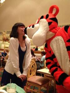 Disney World- Where else can you kiss a tiger?