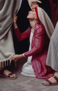 Woman Touching Garment