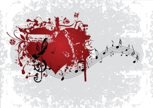 Heart and Music Notes