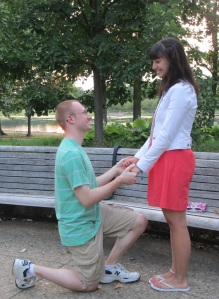 WARNING: This is simply a re-enactment of our proposal, and not a photo from the actual event.