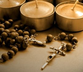 Candles and Rosary